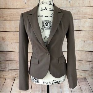 Express Coffee Color Suit Blazer Jacket Size 00